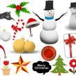 Vector illustration - set of christmas icons and Graphics vector stock — Stock Vector #5803687