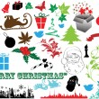 Vector illustration - set of christmas icons and Graphics vector stock — Stock Vector #5803718