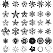 Snowflake winter set vector illustrations — Stock Vector
