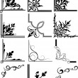 Corner Illustration Elements Frames - Stock Vector