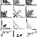 Corner Illustration Elements Frames — Stock Vector