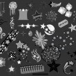 Set of Star elements vector illustrations - Stok Vektör