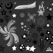 Set of Star elements vector illustrations — Stock Vector