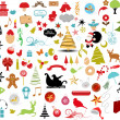 Stok Vektör: Vector illustration - set of christmas icons and Graphics vector stock