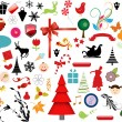 Vector illustration - set of christmas icons and Graphics vector stock — Stock Vector #5805310