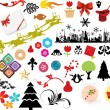 Vector illustration - set of christmas icons and Graphics vector stock — Stock Vector #5805325
