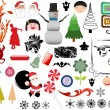 Vector illustration - set of christmas icons and Graphics vector stock — Stock Vector #5805339