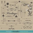 Vector set: calligraphic design elements and page decoration — Stock Vector #5805373