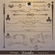 Royalty-Free Stock Imagen vectorial: Vector set: calligraphic design elements and page decoration