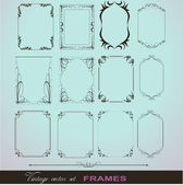 Corner Illustration Elements Frames — Stock Vector