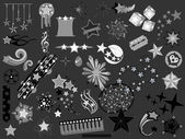 Set of Star elements vector illustrations — Stock Vector