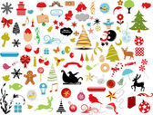 Vector illustration - set of christmas icons and Graphics vector stock — Vetor de Stock