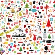 Beautiful Christmas Icons — Stock Vector