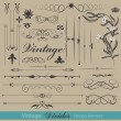 Royalty-Free Stock Imagen vectorial: Ornament Floral Design Elements Collection