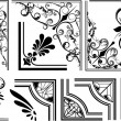 Stock Vector: Vector Set Of Artistic Corners