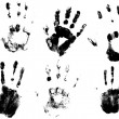 Set Of Vector Hand Prints Designs - Stock Vector