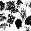 Nature Trees Collection — Stockvektor
