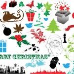 Beautiful Decorative Artistic Christmas Elements — Stock Vector #6123395