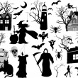 Royalty-Free Stock Vector Image: Horror Graphic Design Collection