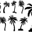 Royalty-Free Stock ベクターイメージ: Palm Trees Design Silhouettes