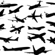 Royalty-Free Stock Vector Image: Creative Design Of Plane Silhouettes Collection