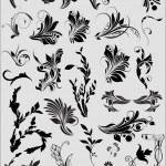Set Of Black Shape Flourish Elements — Stock Vector #6126093