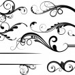Creative Collection Of Swirl Decor Flourish Elements - 图库矢量图片