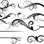 Creative Collection Of Swirl Decor Flourish Elements — Stock Vector
