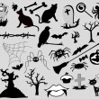 Royalty-Free Stock Vector Image: Horror Art Design Collection