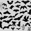 Stock Vector: Bats Silhouettes Collection