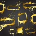 Grunge Golden Banner Set — Stock Vector #6126359