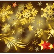 Golden Snowflakes n Decorative Elements - 图库矢量图片