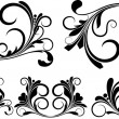 Swirl Funky Flourish Elements — Stock Vector
