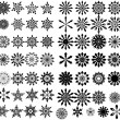 Decorative Snowflakes Collection — Stock Vector