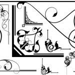 Ancient Design Of Spiral Corner Set — Stock Vector #6127226