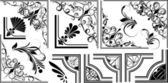 Vector Set Of Artistic Corners — Stok Vektör
