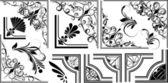 Vector conjunto de rincones artísticos — Vector de stock