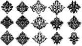 Abstrakte kunst damaris floral elements — Stockvektor