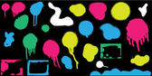 Colorful Spray Paint Spots — Stok Vektör