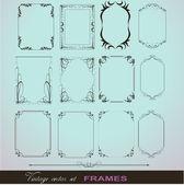 Creative Decor Fancy Design Frame Collection — Stock Vector