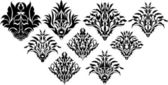 Projekt koncepcyjny królewski kwiatowy elementy — Wektor stockowy
