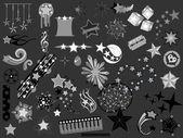 Retro grafik tasarım koleksiyonu — Stok Vektör