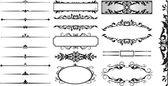 Funky άνθηση πλαίσιο n διαιρέτες συλλογή — Διανυσματικό Αρχείο