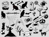 Horor umění design kolekce — Stock vektor