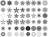 Retro Design Snowflakes Collection — Stock Vector