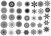 Creative Snowflakes Collection — Stock Vector