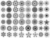 Retro snöflingor samling — Stockvektor