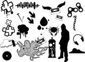 Diseños de tatuajes gráfico urbano — Vector de stock