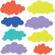Clouds Illustration — Stock Vector