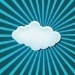 Funky Cloud On Retro Background — Stock Vector